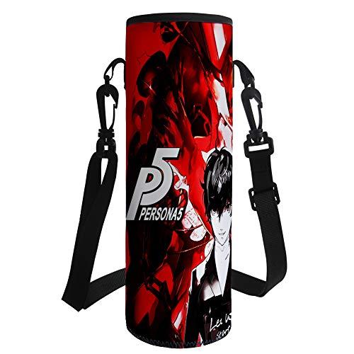 Dondonmin Persona 5 Botella Portador de Agua for el Camping de montaña Que recorre la Bolsa Bolsa Impermeable Bolsa Caldera Carrier (Color : A05, Size : 26 X 9.55 X 9.5cm)
