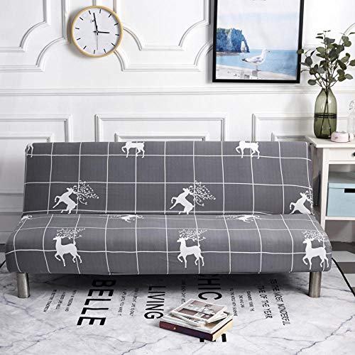 HTEZGDB Universellt sofföverdrag stretch sofföverdrag soffa armskydd skydd skydd mjukt och bekvämt, skydda soffan rådjur, grå 3-sits: 190–230 cm