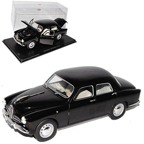 Unbekannt Alfa Romeo 1900 Berlina Limousine Schwarz 1950-1959 Mit Sockel und Vitrine 1/24 Modellcarsonline Modell Auto