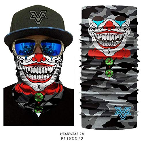 HESHU 3D Ghost Camo Ski Balaclava Cuello Buffs Mascarilla Flame Skull Camuflaje Bandana Headwears Bicicleta Seamless Flag Bandana Scarves