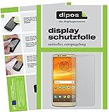 dipos I 2X Schutzfolie matt kompatibel mit Motorola Moto E5 Plus Folie Bildschirmschutzfolie