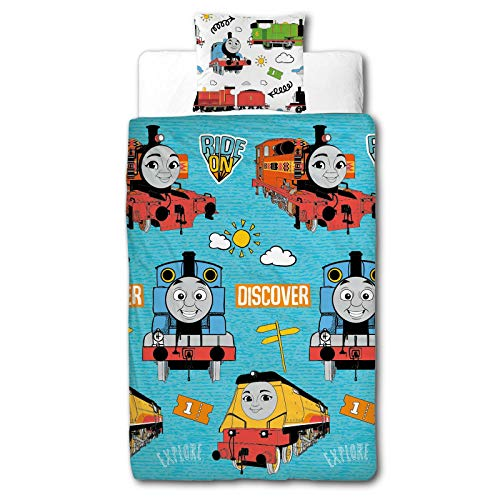 Thomas & Friends Ride On Single Duvet Cover Set, Multi Coloured, TTTRDNDS006UK1