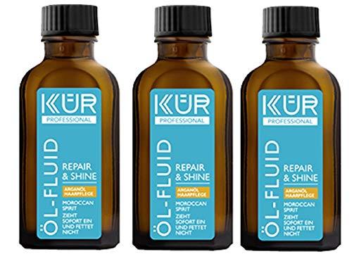 Kür Professional Haar Öl-Fluid Repair & Shine Moroccan Fettet nicht zieht sofort ein 3er-Pack(3x50ml)