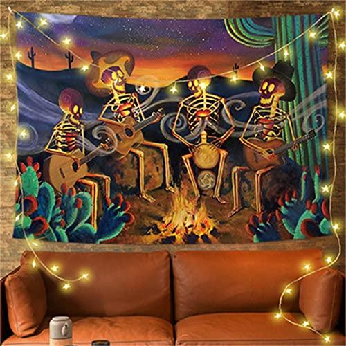 YYRAIN Halloween Poliéster Tapiz Decoración De La Pared del Hogar Barra De Tela Banquete Colgante De Pared Grande 59x39 Inch{W150xH100cm}