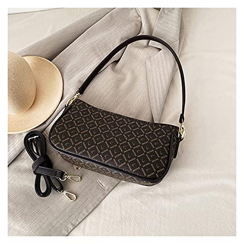 Bolso de Hombro Pequeña de Mujer Bolso PU Mensajero Crossbody Bag Bolsos Embrague Trabajo Moda Diario Vida Tote Cuero Moda Shopper (Color : C, Size : L)