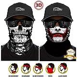 ECOMBOS Multifunktionstuch - 3D Bandana Halstuch Kopftuch Gesichtsmaske Bedrucktes Schlauchtuch...