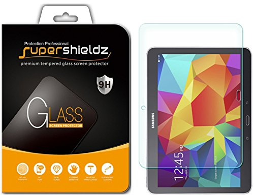 Supershieldz for Samsung Galaxy Tab 4 10.1 inch (SM-T530 Model Only) Tempered Glass Screen Protector, Anti Scratch, Bubble Free