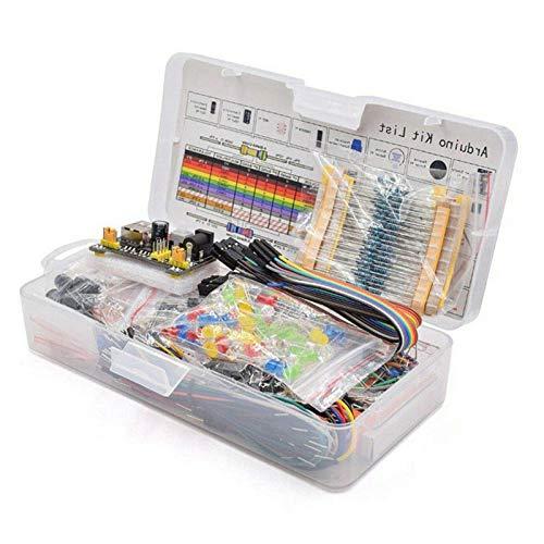MAD HORNETS Kit básico de inicio de componentes electrónicos con resistencia de 830 puntos de amarre