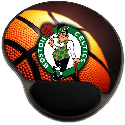 Celtics Basketball Mousepad Base with Wrist Support Mouse Pad Great Gift Idea Boston