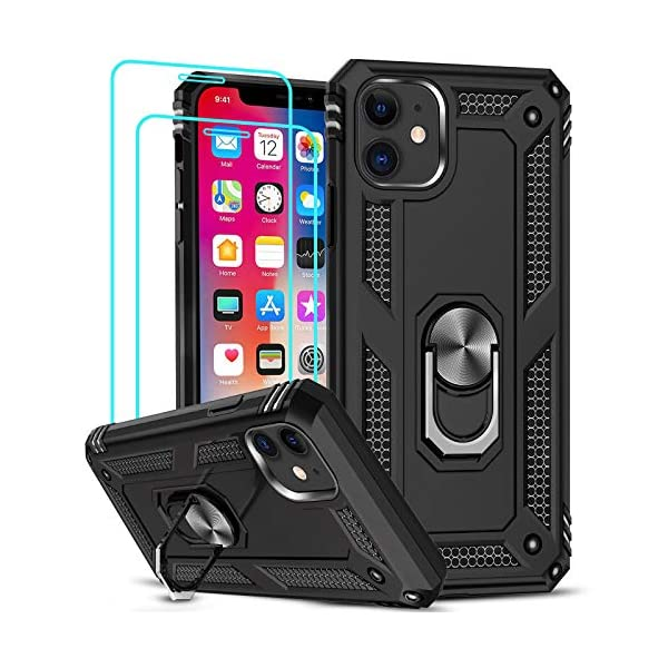 LeYi iPhone 11 Case with [2 Pack] Tempered Glass Screen Protector, Military Grade...