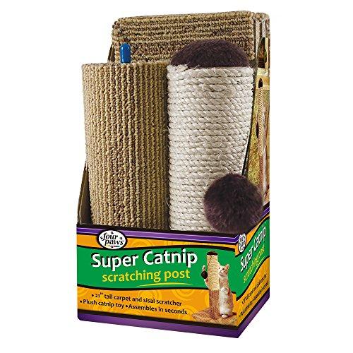 Four Paws Super Catnip Cat Scratching Post, 21