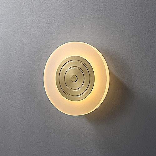 TTXP Lámpara de Pared, Anillo de luz de pared Lujo Postmoderno Minimalista Creativo Rueda Luz de pared Sala de estar Fondo Pared Dormitorio Estudio Luz de pared Lámpara de noche D1