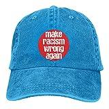 Lsjuee Make Racism Wrong Again G Gorras de béisbol Ajustables Sombreros de Mezclilla Sombrero de Vaq...