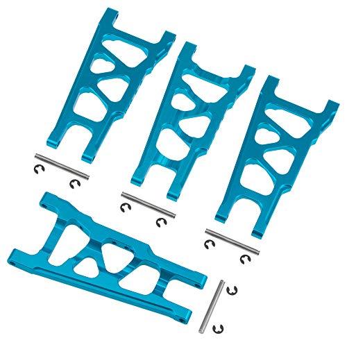 Front Rear Aluminum Suspension Control Arms (L/R) for RC 1/10 Traxxas Slash 5807 4WD Stampede 4x4 Hop-up Parts (Blue)