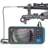 Teslong Rigid Rifle Borescope, 0.2inch Rod Digital Gun Barrel Bore Scope Gun Cleaning Camera-Fits .20 Caliber & Larger Hunting Shooting Firearms, 26inch Long Insertion Tube & 4.5inch 1080P HD Screen