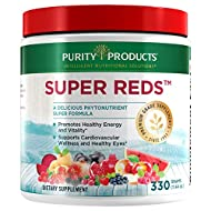 Super Reds Powder by Purity Products - Phytonutrient Superfood Drink Mix w/FloraGLO Lutein - Phytonutrient Blend containing Polyphenols, Antioxidants & More - 330 Grams - 30 Day Supply
