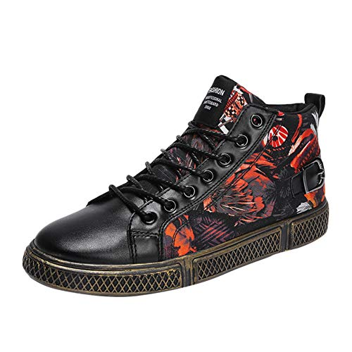 Herren High Top Sneakers Butterfly Print Lace Up Freizeitschuhe wasserdichte Atmungsaktive Turnschuhe
