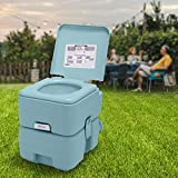 [Practical for Various Sites] This portable toilet is a necessary amenity for occasions with no lavatories nearby. With a built-in clean water tank and a self-contained waste-holding tank, this camping toilet will also be suitable for kids or the eld...