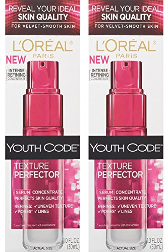 L'oreal Paris Youth Code Texture Perfector Serum, 1.0 Ounce, (Pack of 2)