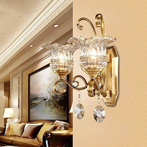 Yanqing Moderne wandlamp USA in het hele land lampen van koper, eenvoudige ladder, hal, muur van de slaapkamer, verlichting 45,5 x 24,5 x 41 cm