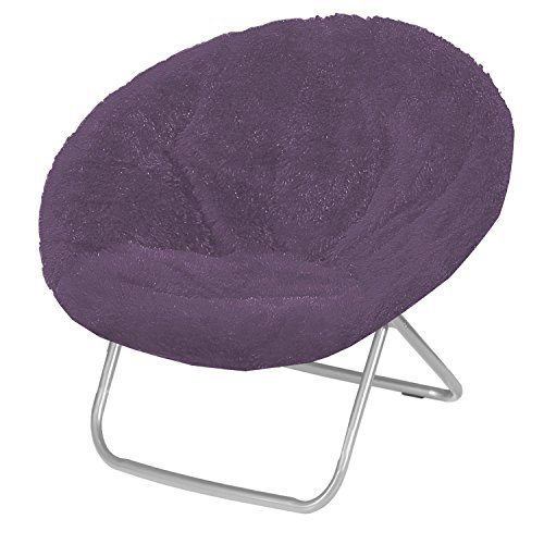 Urban Shop Saucer Chair, Adult, Purple