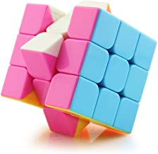 Wings of wind - 3x3x3 Speed Cube, Eco-friendly Plastics Magic Cube Stickerless Smooth Puzzle Cube (Pink)