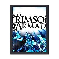 The Crimson Armada アートデリ ポスター パネル 絵キャンバスの壁アート 木製の枠 アートワーク 壁飾り 壁ポスター おしゃれ 30*40cm 玄関やリビング お祝いや贈り物に 気分転換 癒し 外枠付き