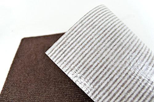 ワタナベ工業国産タイルカーペット吸着ぴたマットループ9枚組30X30cmブラウン