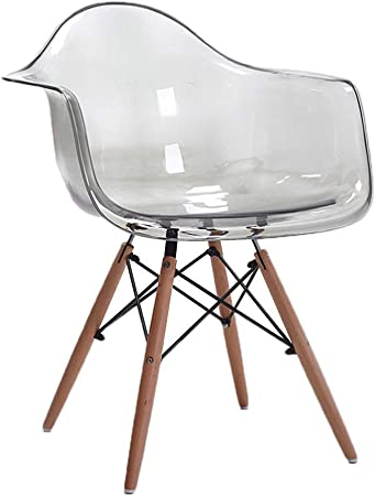 Wxifeid Bar Chair Transparent Armrest Dining Chair Simple Creative Plastic Chair Desk Chair Color White Amazon Co Uk Kitchen Home