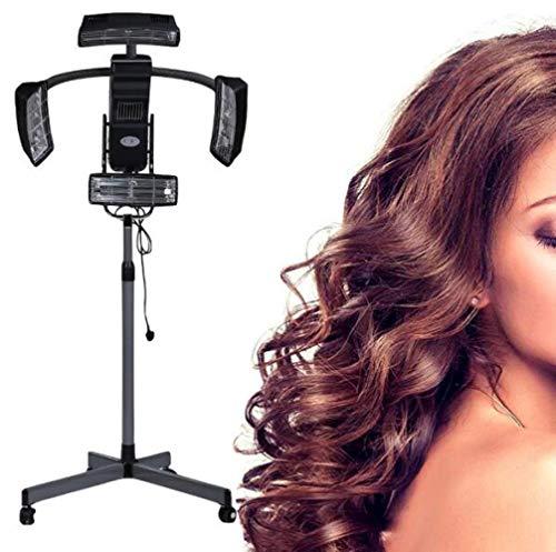 950W Sèche Cheveux Chauffants Professionnel Cheveux Couleur Processeur Accélérateur Roulant Base Coiffure Équipement pour Coiffeur Salon Beauté A