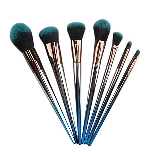 Set De Maquillage Brosse 7 Pièces Blush Poudre Lâche Outils De Beauté Pinceau K-03 Diamant Dégradé Bleu