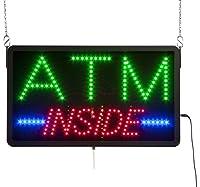 displays2goマルチカラーLED ATM Inside Sign、ブラックプラスチック、必要に応じてAnimated (ledatm02)