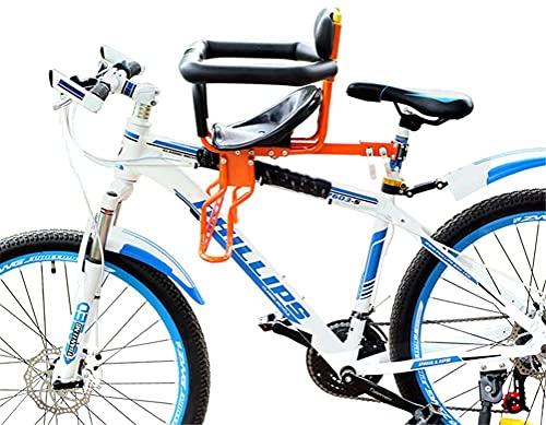 X&Y Asiento Universal de Bicicletas Infantil, Asiento Delantero de Seguridad para niños a Prueba de Lluvia Ajustable para niños de 8 Meses de Edad. (Color : A)