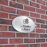 Z-Y Números para casas número de calle Número de casa Números de vidrio acrílico Efecto de puertas placas ROAD Nombre señales de plástico Paredes placas personalizadas placas dirección del apartamento