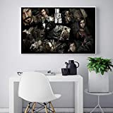 KWzEQ Juego Poster Print Wall Art HD Moderno Lienzo Pintura Sala de Estar decoración del hogar,Pintura sin Marco,50X75cm