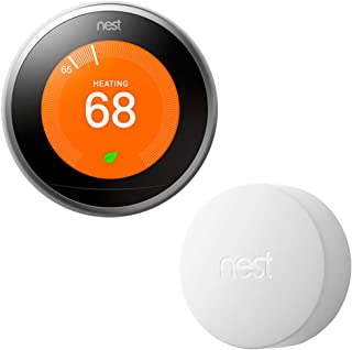 Nest T3007ES Learning Thermostat - 3rd Gen - (Stainless Steel) Temperature Sensor (T5000SF)