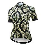 Maillot de ciclismo para mujer Bike Jersey 2020 MTB bicicleta camiseta Team Racing Tops - dorado - XL