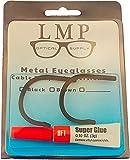 LMP Optical® Cable Temple Retrofit Kit Includes Glue Fine Sandpaper & Instructions Universal Fits Most Metal Frames 1.3mm (1 Pair, Black)