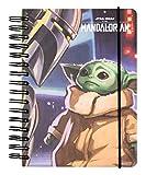 Grupo Erik Cuaderno de notas A5, Bullet Journal Baby Yoda, The Mandalorian (15,6x21,6 cm), CTFBA50031