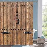 Tenda da doccia Faith Porta Rustica con tenda da doccia in Poliestere con dettagli in Ferro,