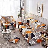 VICV2RO - Funda antideslizante para sofá de 1, 2, 3 y 4 plazas, lavable y elástico, estampado, funda de sofá para todas las estaciones, fundas de cojín; fundas de sillón, suministros para el hogar