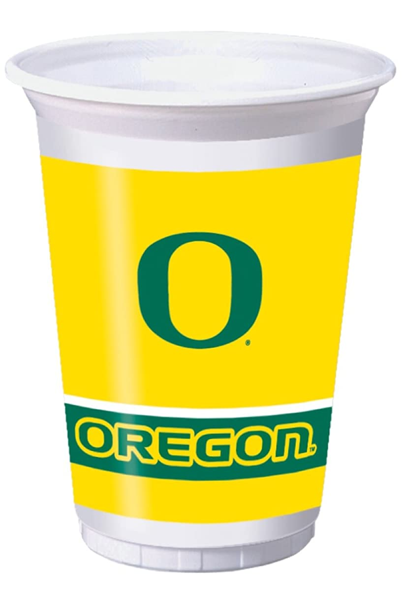 8-Count 20-Ounce Printed Plastic Cups, Oregon Ducks
