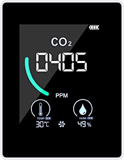 Romacci Medidor de CO 2, detector de dióxido de carbono interno com visor LCD de indução de semicondutor de furo de dissip...