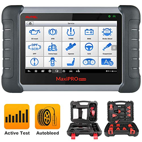 Autel MP808K Diagnostic Scan Tool with Auto Scan & 23+ Service, Bi-Directional Control, Key Fob Programming, ABS Auto Bleeding, SAS, EPB, BMS, DPF, Oil, Updated Version of MP808/DS808
