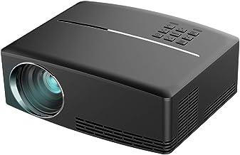 Aidashine Proyectores, proyectores de Video Full HD para presentaciones en PowerPoint, proyector de películas caseras 1800LM para computadora portátil, PC, AV, VGA, USB