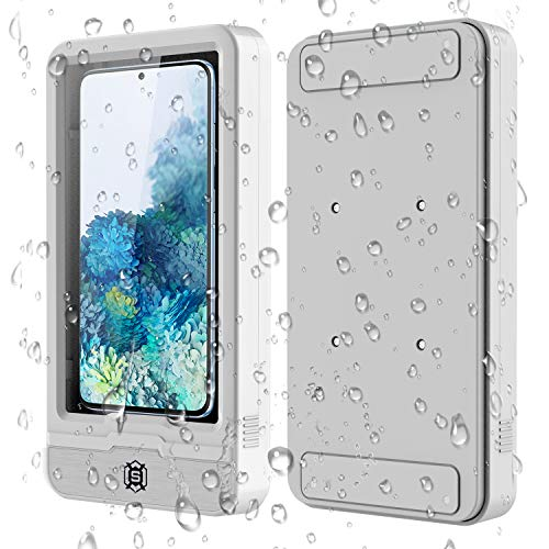Bathroom Waterproof Phone Case, Suitable for iPhone 11 XR Xs Max, Samsung Galaxy Note 10 Plus, Note 10 S20 S20Plus S20Ultra Compatible with Multiple Phone Models No More Than 6.7 Inches (White)