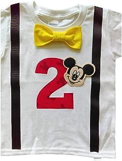 2nd Birthday Shirt Boys Mickey Mouse Tee