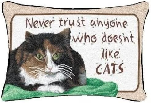 Manual Never Trust Cats 55% OFF 12.5 Throw Pillow Decorative free shipping 8.5-Inch x
