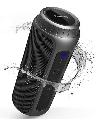 Zamkol 30W Bluetooth Lautsprecher, IPX6 Wasserdichter Wireless tragbarer TWS Lautsprecher, AUX & TF Karte & Micro SD, 5.0 Bluetooth mit Wasserfest Stoßfest Mikrofon 360°Stereo Audio