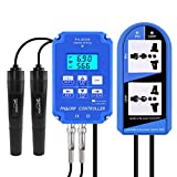 RCYAGO 2-in-1 Digital pH ORP Redox Controller WiFi Output Power Relay Monitor with Separate Relays Replaceable Electrode BNC Type Probe Water Quality Tester for Aquarium Hydroponics Plant Pool Spa